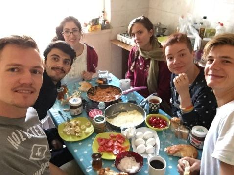 Frühstück in Van