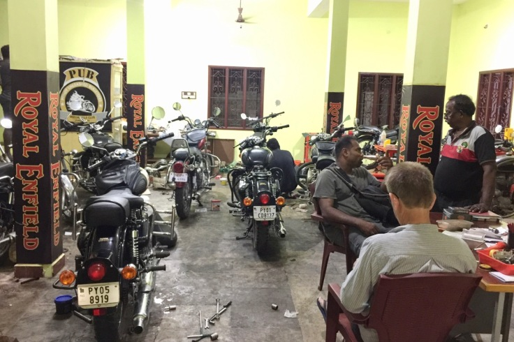 Royal Enfield Workshop in Pondicherry