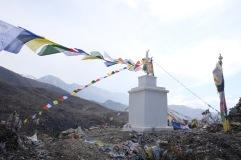 Gebetsfahnen bei Muktinath Temple